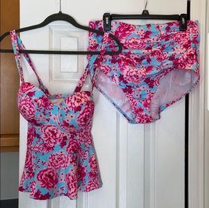Torrid floral bathing suit